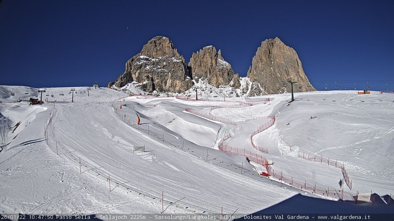 webcam  Passo Sella (BZ/TN, 2240 m), webcam provincia di Bolzano/Trento, webcam Trentino-Alto Adige, Webcam Alpi - Trentino-Alto Adige