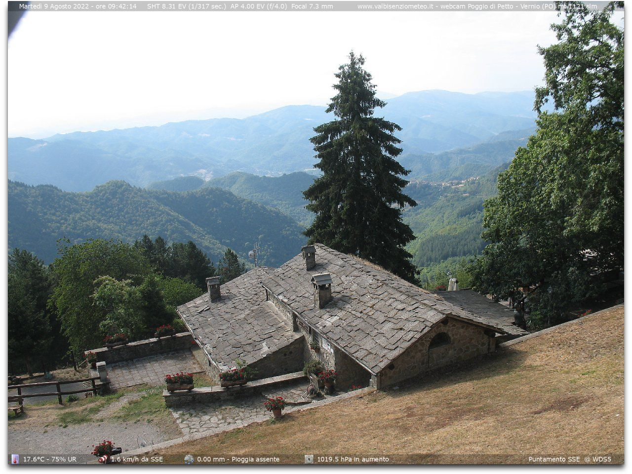 webcam  Poggio di Petto, Vernio (PO, 1121 m), webcam provincia di Prato, webcam Toscana, Webcam Toscana
